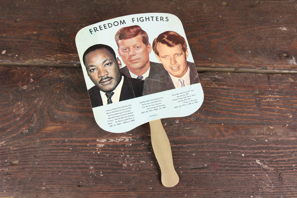Carolina Mortuary John F. Kennedy, Robert Kennedy, and Martin Luther King Advertising Church Fan