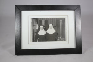 Framed Photograph of Two Nuns, 4.5x3""