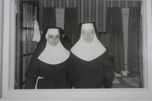 Load image into Gallery viewer, Framed Photograph of Two Nuns, 4.5x3""