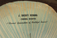 J. Sherfy Redding Funeral Director Advertising Church Fan