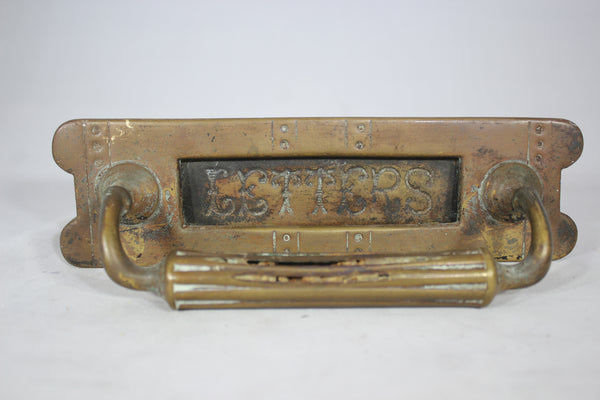 "Antique Brass ""Letters"" Mail Box Slot"