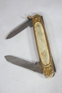 Antique Pocket Knife with an Image of a Nude Woman, 1920s