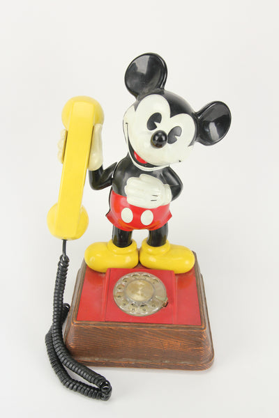 The Mickey Mouse Rotary Phone by American Telecommunications Corporation, 1976