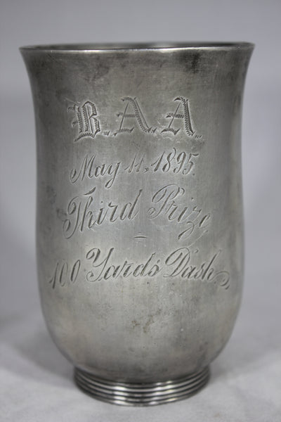 Boston Athletic Association Third Prize Trophy for the 100 Yards Dash, 1895