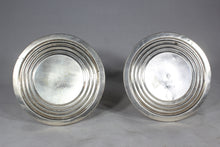"Load image into Gallery viewer, Pair of Weighted Sterling Silver 3.25"" Candlesticks"