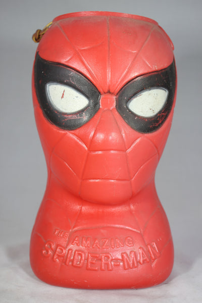 The Amazing Spiderman Blow Mold Candy Bucket by A.J. Renzi, 1979