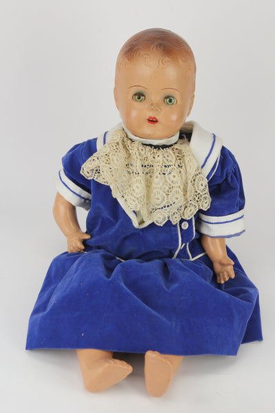 Composition Baby Boy Doll with Velvet Blue Outfit and Moving Blue Eyes, 22""
