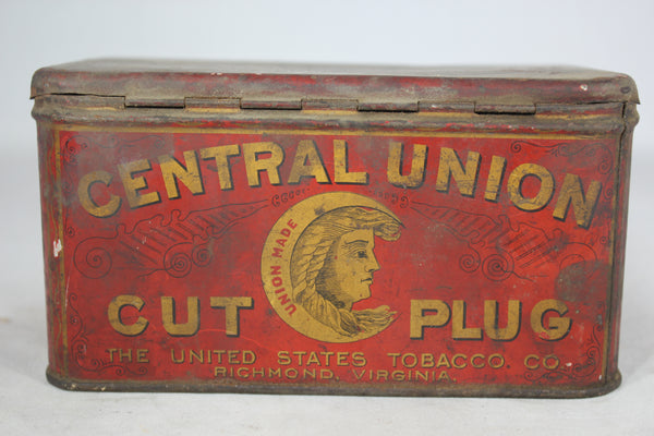 Central Union Cut Plug Tobacco Tin Can