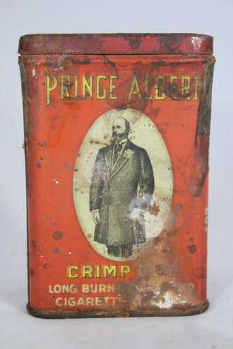 Prince Albert Crimp Cut Tobacco Oval Tin Can