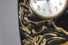 Load image into Gallery viewer, Mid-Century Art Deco Cermaic Lamp and Clock with Golden Deer