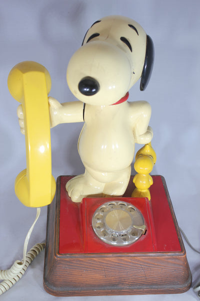 Peanuts Snoopy and Woodstock Vintage Rotary Dial Phone, 1966