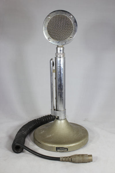 Vintage Astatic D-104 Lollipop Microphone on T-UG8 Stand (Untested)