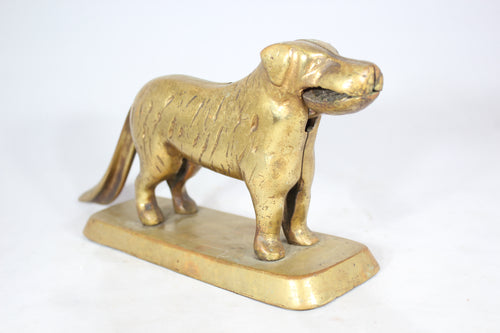 Solid Brass Dog Nutcracker