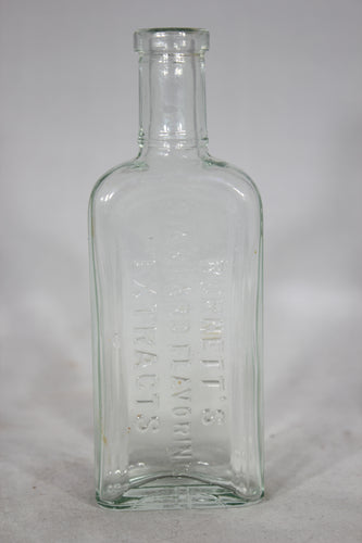 Burnett's Standard Flavoring Extracts Glass Apothecary Bottle