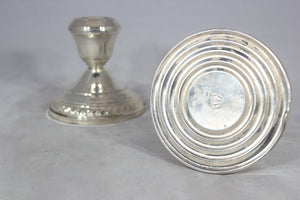 "Pair of Weighted Sterling Silver Gruen 3.25"" Candlesticks"