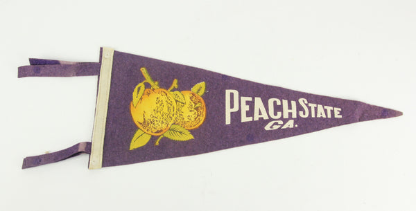 Peach State Georgia Purple Souvenir Pennant - 17""