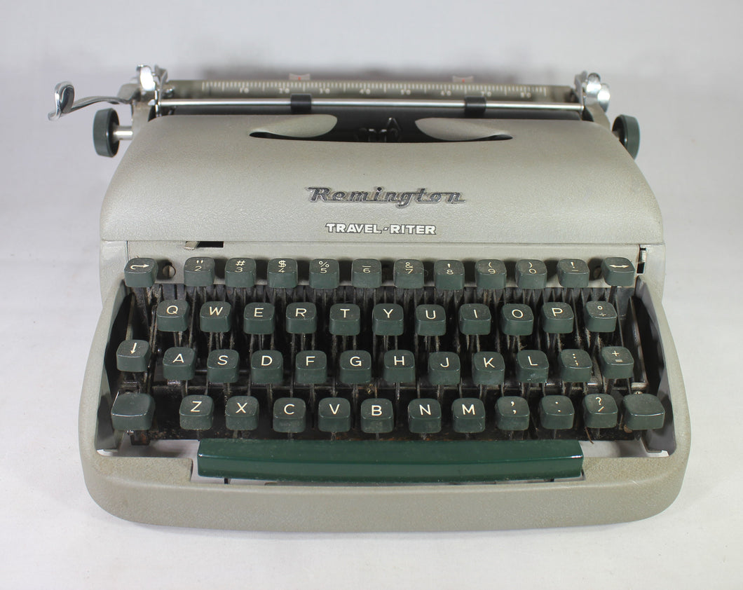 Remington Travel-Riter Manual Portable Typewriter with Case, 1950s