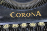 Corona 3 Manual Portable Folding Typewriter with Case, 1921