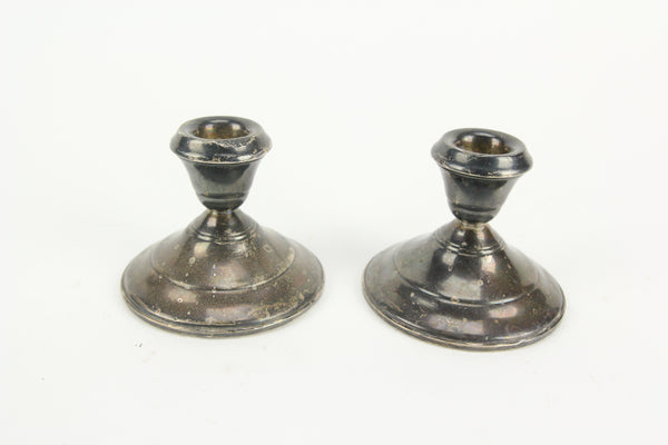 Weighted Sterling Silver Candlesticks, Pair - 3""