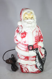 Santa Claus Light Up Blow Mold by Empire Plastic Corp., 1968
