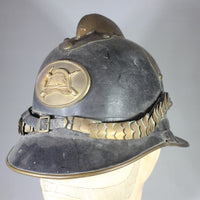 Antique Danish Fire Helmet, Aarhus, Denmark Fire Department, 1955