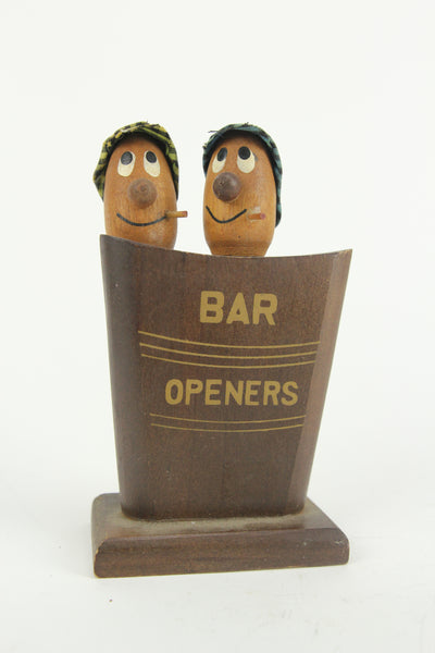 Novelty Bar Openers Bottle Opener and Corkscrew Head Set