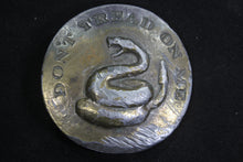 Load image into Gallery viewer, Don't Tread on Me Solid Brass Belt Buckle with Snake