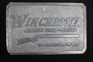 Winchester Repeating Arms Solid Brass Belt Buckle, by Wyoming Studio Art Works 1978