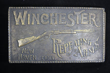 Load image into Gallery viewer, Winchester Repeating Arms. New Haven, Connecticut Solid Brass Belt Buckle