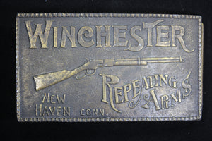 Winchester Repeating Arms. New Haven, Connecticut Solid Brass Belt Buckle