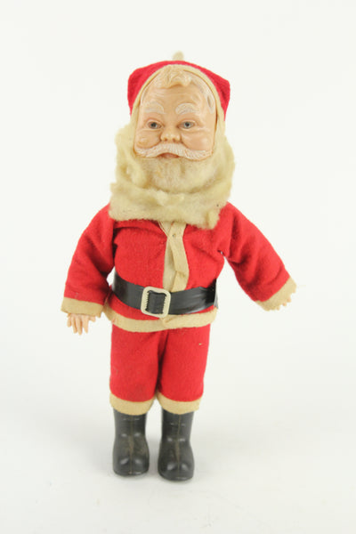 Plastic Vintage Santa Claus Christmas Doll, Made in Hong Kong, 12""