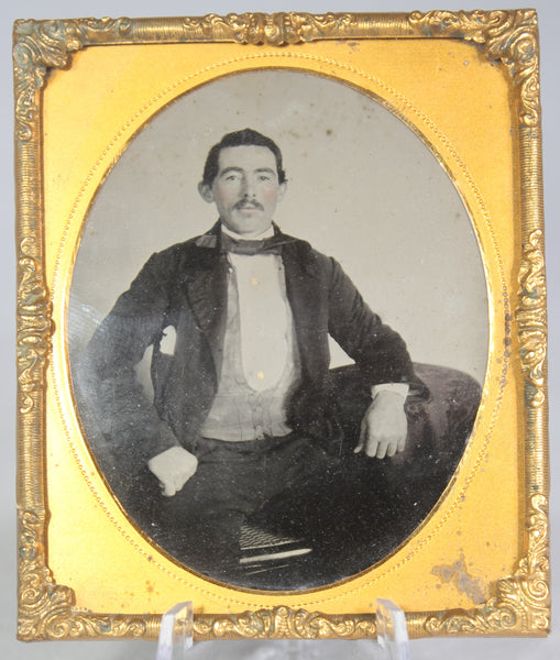 Ambrotype Photograph of a Proud Looking Man