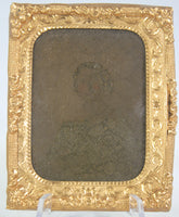Ambrotype Photograph of a Young Woman (Poor Condition)