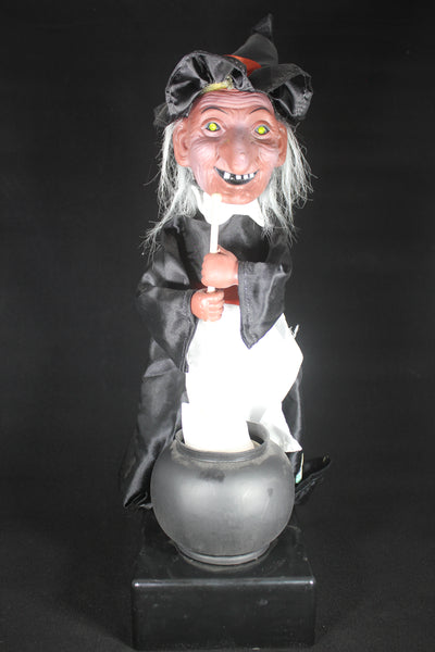 Animatronic Halloween Witch with Cauldron
