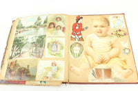 Completely Filled 320 Piece Victorian Trade Card Die Cut Litho & More Scrapbook