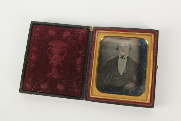 Daguerreortype Photograph of an Important Looking Man in Full Case (1/6 Plate)