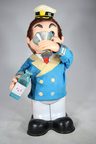 Drinking Sailor Captain Battery Operated Mechanical Toy