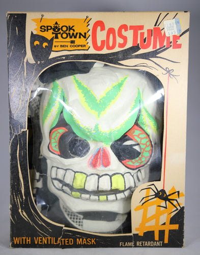Ben Cooper Spook Town Skeleton Costume with Glow-in-the-Dark Mask (In Box)