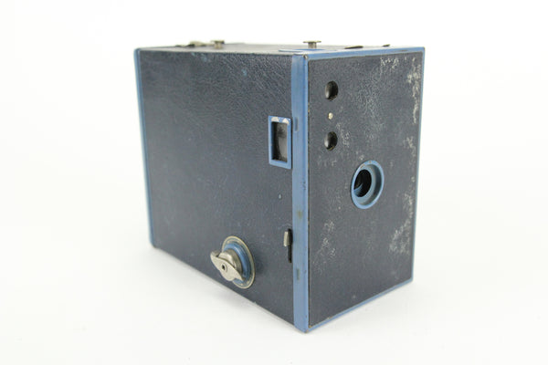 Eastman Kodak No. 2A Brownie Model C Box Camera (Blue Color)