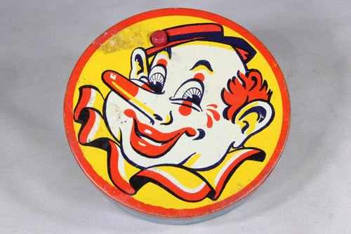 Clown Noisemaker Tin-Lithograph Toy by Kirchhof of Newark NJ