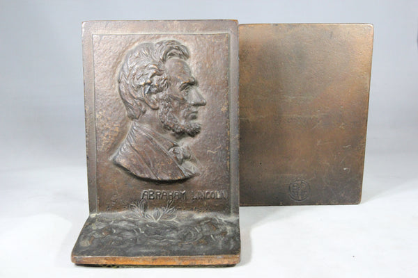 Cast Iron Abraham Lincoln Bookends