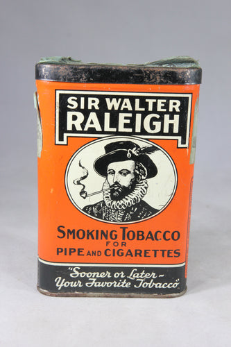 Sir Walter Raleigh Smoking Tobacco for Pipe and Cigarettes Tin
