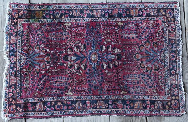 "32"" x 50"" Vintage Handmade Rug (Stained)"
