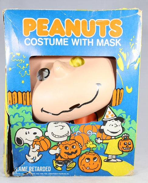 Peanuts Charlie Brown Halloween Costume with Mask by Ben Cooper, 1965 (In Box)