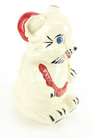Royal Ware Teddy Bear Painted Ceramic Cookie Jar, 1940s