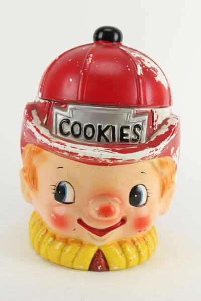 Firefighter Fireman Painted Ceramic Cookie Jar