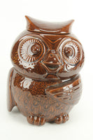 McCoy 204 USA Brown Owl Mid-Century Ceramic Cookie Jar