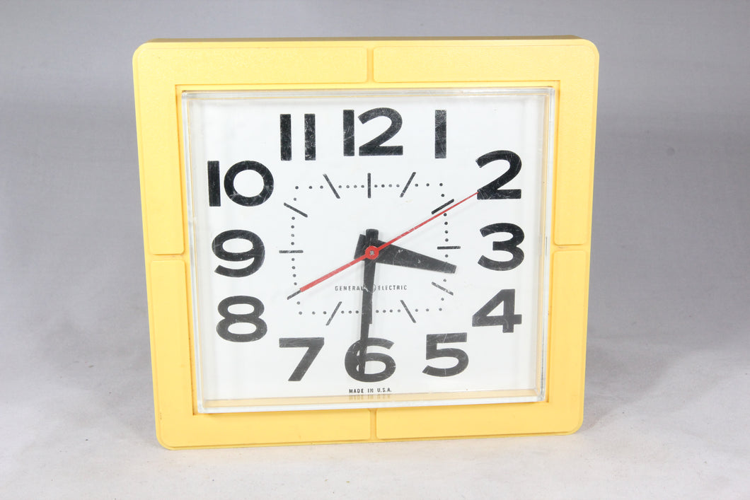 General Electric Yellow Electric Kitchen Wall Clock