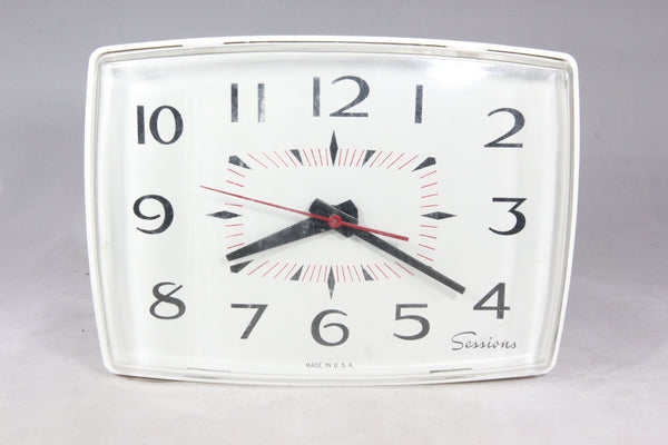 Sessions Model 34901 Electric Kitchen Wall Clock (With Box)