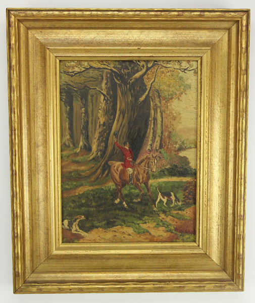 Oil on Canvas Painting of a Forest Scene, Signed Marshall - 14.5 x 17.5""